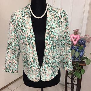 H&M Green & Peach Blazer (size 12)(B8)